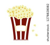 movie popcorn icon cinema... | Shutterstock .eps vector #1278828082