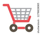 vector shopping basket icon buy ... | Shutterstock .eps vector #1278828085