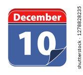 vector calendar icon date... | Shutterstock .eps vector #1278828235