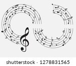 music notes .abstract musical... | Shutterstock .eps vector #1278831565