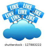 cloud computing like social...   Shutterstock . vector #127883222