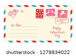 happy valentines day card.... | Shutterstock .eps vector #1278834022
