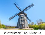 the dutch windmill in benz on... | Shutterstock . vector #1278835435