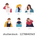 male and female cartoon... | Shutterstock . vector #1278840565