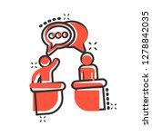 politic debate icon in comic... | Shutterstock .eps vector #1278842035