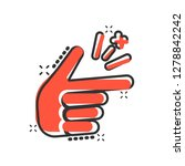 finger snap icon in comic style.... | Shutterstock .eps vector #1278842242