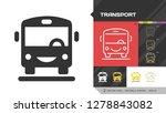 transport black glyph... | Shutterstock .eps vector #1278843082