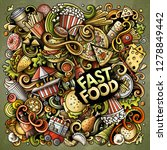 fastfood hand drawn vector... | Shutterstock .eps vector #1278849442