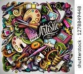 cartoon vector doodles art and... | Shutterstock .eps vector #1278849448