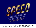 speed style font  alphabet and... | Shutterstock .eps vector #1278850615