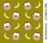 vector background with cartoon... | Shutterstock .eps vector #1278851188