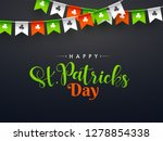 stylish calligraphy of happy st.... | Shutterstock .eps vector #1278854338