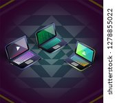 isometric vector colorful three ... | Shutterstock .eps vector #1278855022