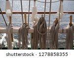 old classic tall ship part deck ...   Shutterstock . vector #1278858355