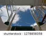 old classic tall ship part deck ...   Shutterstock . vector #1278858358