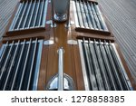 old classic tall ship part deck ...   Shutterstock . vector #1278858385