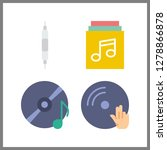 4 disc icon. vector... | Shutterstock .eps vector #1278866878