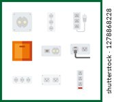 9 switch icon. vector... | Shutterstock .eps vector #1278868228