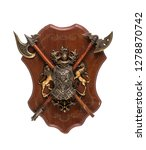 Ancient Wooden Shield With...