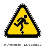 triangular yellow warning... | Shutterstock .eps vector #1278880612