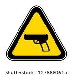triangular yellow warning... | Shutterstock .eps vector #1278880615