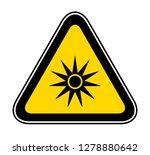 triangular yellow warning... | Shutterstock .eps vector #1278880642