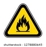 triangular yellow warning... | Shutterstock .eps vector #1278880645