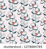 seamless pattern with flowers... | Shutterstock .eps vector #1278884785