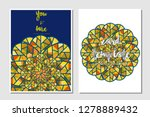 card template vector...   Shutterstock .eps vector #1278889432
