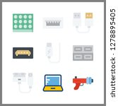 9 portable icon. vector... | Shutterstock .eps vector #1278895405