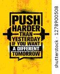 push harder than yesterday if... | Shutterstock .eps vector #1278900508