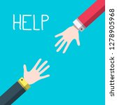 hands with help title   vector... | Shutterstock .eps vector #1278905968