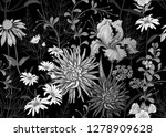 seamless summer pattern with... | Shutterstock .eps vector #1278909628