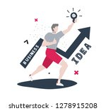 business illustration with... | Shutterstock .eps vector #1278915208