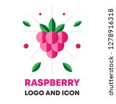 raspberry icon  logo  berry... | Shutterstock .eps vector #1278916318