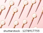 pattern made with spoons with... | Shutterstock . vector #1278917755