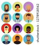 male and female faces avatars.... | Shutterstock .eps vector #1278918562