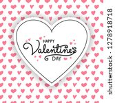 valentine's day   concept of a... | Shutterstock .eps vector #1278918718