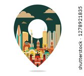 mexico city. travel and... | Shutterstock .eps vector #1278921835