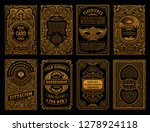 vintage golden vector set retro ... | Shutterstock .eps vector #1278924118