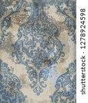 damask texture grunge... | Shutterstock .eps vector #1278924598