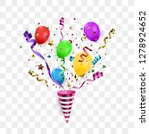 confetti burst with party... | Shutterstock .eps vector #1278924652