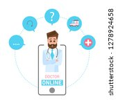 online doctor concept. online...   Shutterstock .eps vector #1278924658