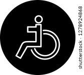 vector handicapped icon    Shutterstock .eps vector #1278924868