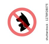 prohibition sign pet related... | Shutterstock .eps vector #1278928075