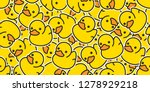 Duck Seamless Pattern Vector...