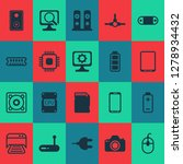 hardware icons set with cpu ... | Shutterstock .eps vector #1278934432