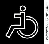 vector handicapped icon    Shutterstock .eps vector #1278936028