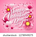 valentines day lettering on... | Shutterstock .eps vector #1278949075