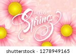 daisy flower background and... | Shutterstock .eps vector #1278949165